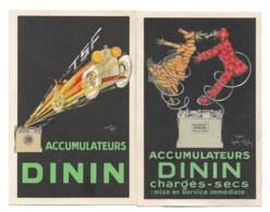 Accumulateurs DININ   2 Cpa Différentes   Ttttb état - Publicité