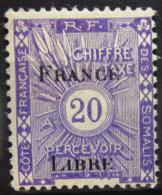 COTES DES SOMALIS                 TAXE 32                   NEUF* - Côte Française Des Somalis (1894-1967)