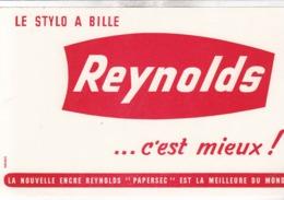BUVARD / LE STYLO REYNOLDS C EST MIEUX - Buvards, Protège-cahiers Illustrés