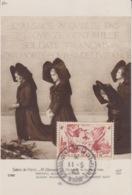 CP Maximum N° 739 (Libération Alsace-Lorraine) Obl Strasbourg Pl. Cathédrale 11/5/45 (Alsaciennes Et Monument Aux Morts) - Maximum Cards