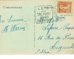 DAGUIN DU TREPORT SUR CPA - Marcophilie (Lettres)