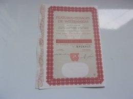 FILATURES ET TISSAGES DE WITTENHEIM (haut-rhin) 100 Francs - Actions & Titres
