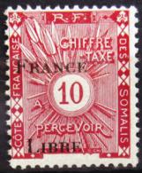 COTES DES SOMALIS                 TAXE 30                   NEUF** - Côte Française Des Somalis (1894-1967)