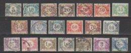 Belgique  1922 / 38  TAXE  N° 32 à 48  Oblitéré   = 20 Valeurs...série Compléte - Taxes