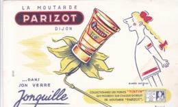 LA MOUTARDE PARIZOT / POINT TINTIN / D APRES SAVIGNAC - Levensmiddelen