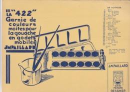 Buvard J.M. PAILLARD La 422 Garnie De Couleurs Moites Pour La Gouache En Godets Mobiles - Papeterie