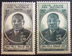 COTES DES SOMALIS                 N° 262/263                   NEUF** - Côte Française Des Somalis (1894-1967)