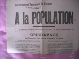 Ordonnance Allemande 1941 - Remise Des Armes - 1939-45