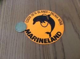 AUTOCOLLANT Fluo, Sticker «MARINELAND COSTA DE'N BLANES - PALMA NOVA » (Espagne) Dauphin - Adesivi