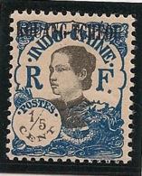 Kouang Tchéou - 1923 - N°Yv. 53a - 1/5c Bleu Et Noir - Variété Surcharge Noire - Neuf * / MH VF - Unused Stamps