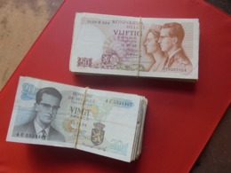 BELGIQUE 2 LIASSES 20 FRANCS 1964+50 FRANCS 1966-100+50=150 BILLETS TOUT ETATS (B.8) - Munten & Bankbiljetten