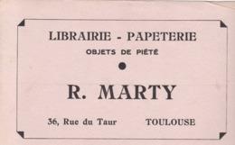 MARTY / LIBRAIRIE PAPETERIE / OBJETS DE PIETE / TOULOUSE / 36 RUE DU TAUR / RARE - Papeterie
