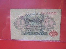 Darlehnskassenschein :1 MARK 1914 CIRCULER (B.8) - [ 2] 1871-1918 : Impero Tedesco