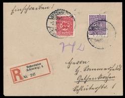 1920, Deutsches .Abstimmgeb. Schleswig, 4 + 9, Brief - Duitsland