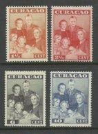 CURACAO 1943 Michel 204 - 207 * Royal Family - Niederländische Antillen, Curaçao, Aruba