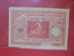 Darlehnskassenschein :2 MARK 1920 CIRCULER (B.8) - [ 3] 1918-1933 : República De Weimar