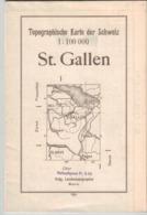 St. Gallen - Bodensee 1944 - Schweiz 1; 100 000 (~75 X 55 Cm)  - Schweiz - Konstanz - Glarus - Bregenz - Mapas Topográficas