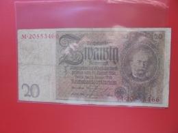 Reichsbanknote 20 MARK 1929 CIRCULER (B.8) - [ 3] 1918-1933: Weimarrepubliek