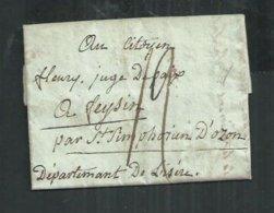 LAC Du 15 Nivose An 6 Pour Le Citoyen Henry à Seysin (Isère) - Marcophilie (Lettres)