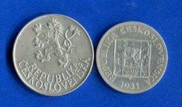 Tchécoslovaquie  2  Pieces  Arg - Czechoslovakia