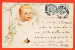 ILL073 RAPHAEL TUCK Série 43-10 UN MOT à La POSTE Bébé - PECQUENCOURT 1904 De COLIEZ à BLANCHETTE  Pont-Ste-Maxence - Tuck, Raphael