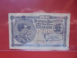 BELGIQUE 1 FRANC 1920 CIRCULER (B.8) - [ 2] 1831-... : Regno Del Belgio