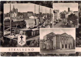 Stralsund - Hafen - Neuer Markt Und Jakobikirche - Stadttheater /P02/ - Stralsund