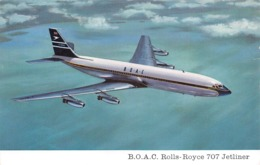 "09575 ""BOAC BOEING 707 JETLINER POWERED BY 4 ROLLS-ROYCE  COBWAY 505""   CART  NON  SPED - 1946-....: Era Moderna"
