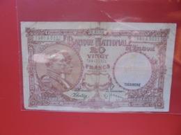 BELGIQUE 20 FRANCS 1940 CIRCULER (B.8) - [ 2] 1831-... : Koninkrijk België