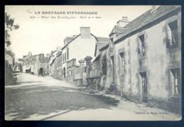Cpa Du 22  Mur De Bretagne Route De La Gare  LZ65 - Other Municipalities