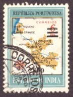 Inde - 1959 Map Of District Damao Stamps Of 1957 Surcharged  2.00/6 E/T - Inde Portugaise