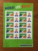 BLOC FEUILLET PERSONNALISABLE MERCI LES BLEUS ADHÉSIF Y&T F3936B - 2006 - Neuf - France