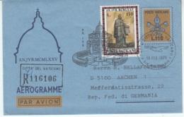 Aerogramma Vaticano 1975 L. 110 Viaggiato In Raccomandata Per La Germania - Postal Stationeries