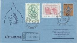 Aerogramma Vaticano 1976 L. 180 Viaggiato In Raccomandata Per La Germania - Postal Stationeries