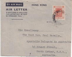 Aerogramma Da Hong Kong All'Australia 1950 - Stamps