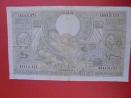 BELGIQUE 100 FRANCS 1938 CIRCULER (B.8) - [ 2] 1831-... : Belgian Kingdom