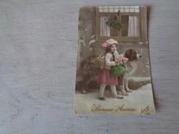 Enfant ( 3301 )  Kind  Fille  Fillette  Chien  Hond - Autres