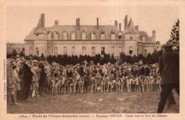 FORET DE VILLERS COTTERETS CHASSE A COUR EQUIPAGE MENIER CUREE DANS LE PARC DU CHATEAU - Villers Cotterets