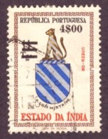 Inde -1959 Coat Of Arms Stamps Of 1958 Surcharged 4.00/11 E/T - Inde Portugaise