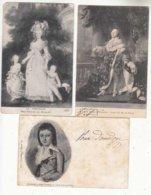 CPA Histoire  De France  - 3 Cartes Louis XVI, Marie Antoinette, Le Dauphin   -  Achat Immédiat à Prix Fixe - Histoire