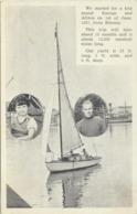 74-927 Estonia Person(s) Sailing - Estonie