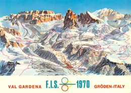 "09580 ""(BZ) VAL GARDEN - GRODEN - CAMPIONATI MONDIALI SCI ALPINO 1970""  CART  SPED 1973 - Manifestazioni"