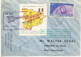 ANDORRA FDC TELECOMUNICACIONES ESPACIALES ROCKET MAIL ZR 122 COHETE - Cartas