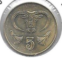 Cyprus 5 Cents 2004  Km 55.23  Unc - Chypre