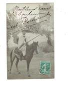 Carte Photo Militaria - Algérie ORAN - Soldat - Cavalier Cheval Fusil - 1909 - - Personen