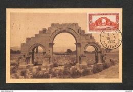 ALGÉRIE - Carte Maximum 1952 - CONSTANTINE - LAMBESE - Arce De Triomphe De Septime-Sévère - Maximumkarten