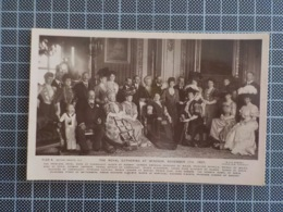 11.093) The Royal Gathering At Windsor November 1907 Monarquia D. Amélia Orléans Bragança Rainha Portugal - Familias Reales