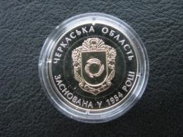 75 Years Of Foundation Of Cherkasy Region 2014 Coin 5 UAH Bimetal - Ukraine