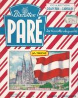 Buvard Biscottes Paré, Drapeaux Et Capitales, Autriche, Vienne / RARE - Biscottes
