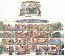 Indonesia, 2000, Indonesian Folktales, Sheetlet + S/S, MNH** - Indonesien